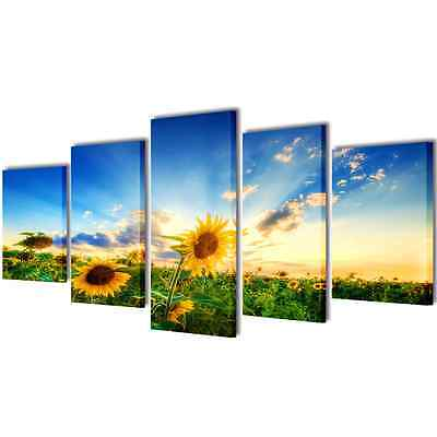 Set of 5 Sunflower Canvas Prints Framed Wall Art Decor Painting 100x50cm