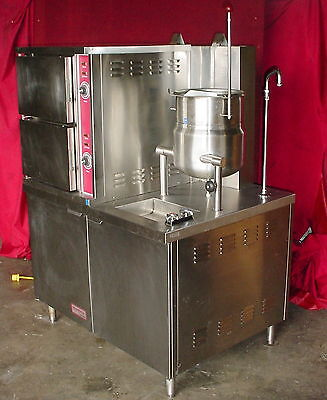 Southbend GCX-2-6S SteamMaster Double Gas Steam Oven w/6 Gal. Kettle ~ WILL SHIP