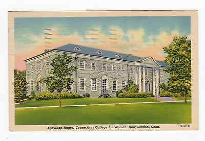 Linen Postcard Knowlton House Connecticut College For Women New London Ct 1944