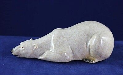 Polar Bear Sleeping  - Made to Look Like it is Hand Carved Stone
