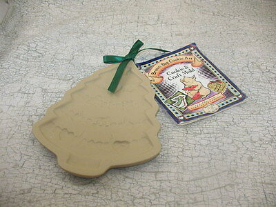 1995  BROWN BAG COOKIE ART MOLD CHRISTMAS TREE RETIRED HILL DESIGN New w tag ~nn