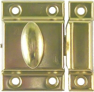 SMALL POLISHED BRASS Cupboard Turn lock old antique vintage rustic patina door