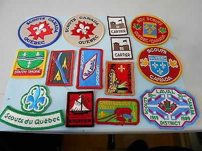 (Oe8-R) Fifty Different Quebec & Asc Listed Scout Badges