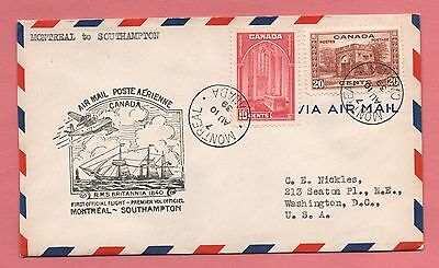 1939 Canada Trans Oceanic Record Flight Montreal To England Aamc 1328L