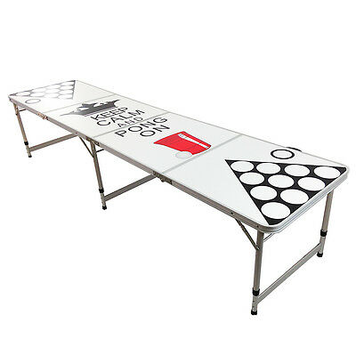 New Beer Pong Table 8' Aluminum Folding Indoor Outdoor Tailgate Drinking Game #9