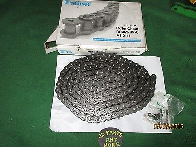 New 60-2 Tsubaki 10 Ft Double Roller Chain Rs60-2-Rp-U  160 Links