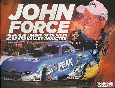 2016 John Force signed Legend Of Thunder Valley Camaro FC Bristol NHRA postcard