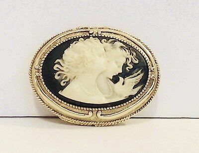 Corday Solid Perfume Cameo Two Women Faces Dove 95% Full Unnamed Scent  EUC