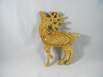 Gold Glittered Reindeer Christmas Tree Ornament new holiday