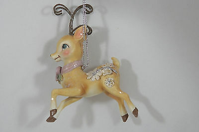 Reindeer Prancing Christmas Tree Ornament new holiday