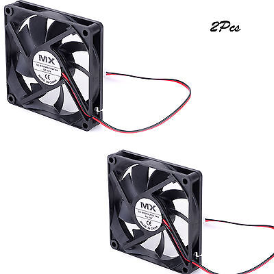2Pc 12V DC FAN BRUSHLESS 80x15mm for DIY VENTILATION VAN CAMPER BOAT PC