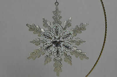 Snowflake with Jewel ChristmasTree Ornament new winter snow frost starburst