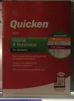 Quicken Home and Business 2017 Brand New Sealed