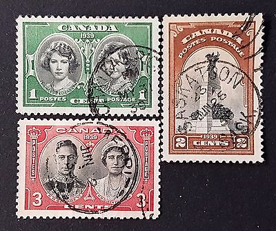Canada Sg # 372 to Sg # 374 Used NH and LH Stamps Set Collection