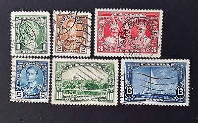Canada Sg # 335 to Sg # 340 Used Stamp Collection Lot CV £ 29.00