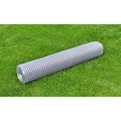 S# New 1x25M Chicken Wire Pet Mesh Fence Fencing Coop Aviary Hutches Galvanised