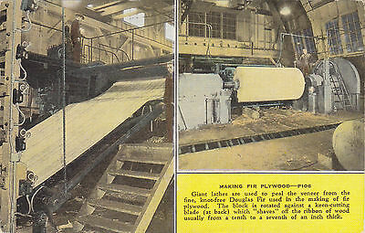 Machinery Giant Lathes Making Fir Plywood