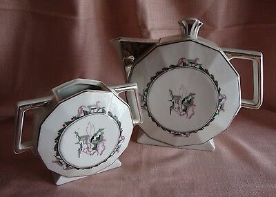 Ensemble Service A Cafe 2 Pieces En Porcelaine De Limoges Et Platine