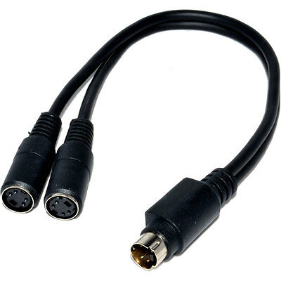SVHS S-Video Splitter Kabel 4 pin Adapter Lead - 2 to 1