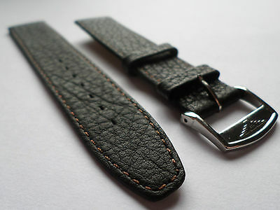 Longines  S/steel Buckle On A 18Mm  Brown Soft Grain Calf Leather Watch Strap