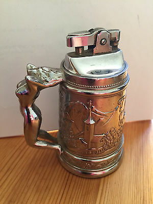Decorative Metal Table Lighter with naked lady handle