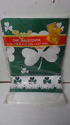 Vintage Reeds St Patrick's Day Paper Tablecloth in Unopened Package
