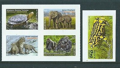 Australia 2016 Endangered Wildlife Self Adhesive Booklet Set Of 5 Unmounted Mint
