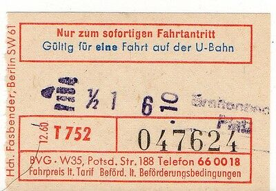 Berlin Tram Ticket.