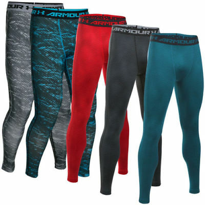 Under Armour Heatgear Stampato Compressione Legging Pantaloni Uomo 1258897