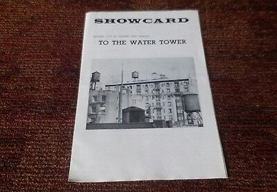 To The Water Tower Second City 1966  showcard playbill Bob Dishy Barbara Harris