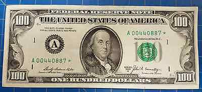 1969-A $100 Federal Reserve Star Note - Nice Crispy Au!