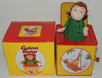 MINT 1995 CURIOUS GEORGE Figure JACK IN THE BOX Schylling Vintage MIB