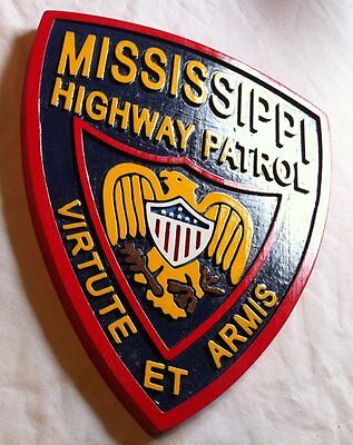 Police Mississippi Highway Patrol 3D routed wood patch plaque sign Custom