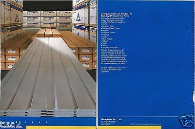 1989 GEORGIA PACIFIC SIDING Products 20pg CATALOG,Company with ASBESTOS History