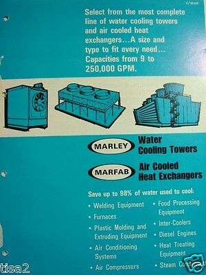 The MARLEY Co WATER COOLING TOWERS 1969 Catalog ASBESTOS Cement & Asbestos Fil
