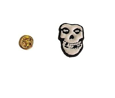 Misfits Band White Skull Face  PVC Lapel Pin New Licensed on Backing Board