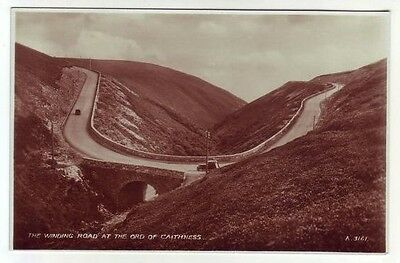 The Winding Road At The Ord Of Caithness 1936 Real Photograph Valentine A3161