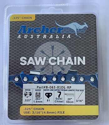 """20"""" .325-063-81DL Ripping Chainsaw Chain replaces Stihl MS280 MS290 K3C-RP-81E"""