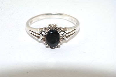 Faceted Sapphire Sterling Silver Ring