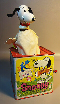 1966 Snoopy Jack-In-The-Box By Mattel Works Great Charlie Lionel Lucy Graphics