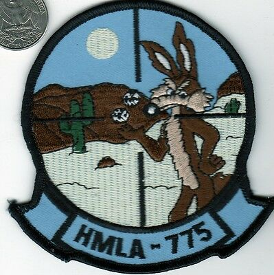 US NAVY Marine Corps Helicopter HML Squadron Patch Art RoadRunner Coyote Cartoon
