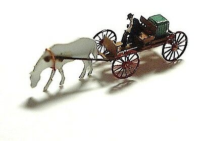 1023 Micron Art Z-Scale BUCKBOARD OUTFIT, driver and horse (2 each) , Brass Kit