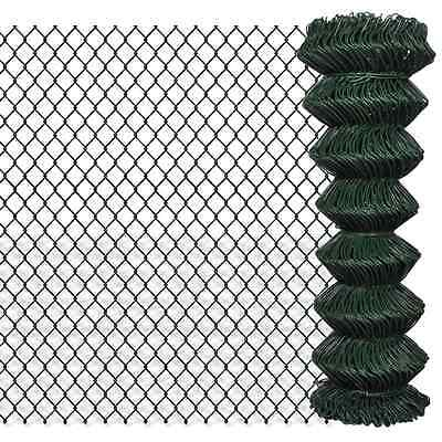 S# Green Galvanized Steel Mesh Wire Chain-link Fence PVC Coating 1.25x15m 60x60m