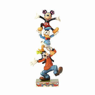 Disney Traditions Jim Shore 2016 Mickey Donald & Goofy Teetering Tower Figurine