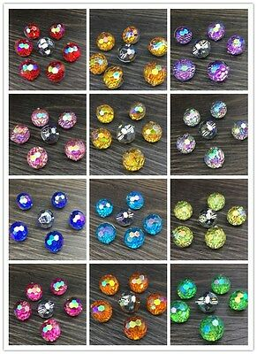 NEW 10MM Sew on Diamante ROUND BUTTONS Sparkle Acrylic Crystal Rhinestone