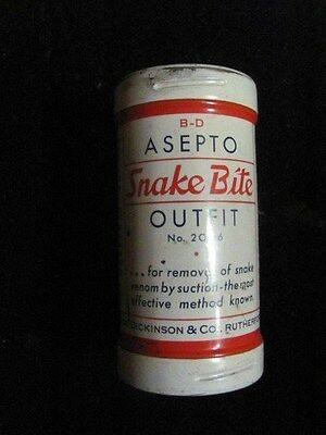 Vintage-Asepto Snake Bite Outfit Tin With Contents