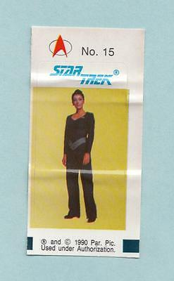 Star Trek TNG The Next Generation Bubble Gum stickers 1990 #15 Deanna Troi