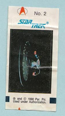 Star Trek TNG The Next Generation Bubble Gum stickers 1990 #2 USS Enterprise