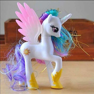 14CM Princess Celestia My Little Pony funny Cake Toppers Doll Action Figure Toy