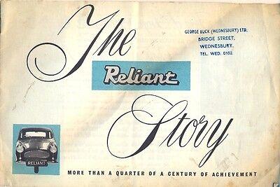 The Reliant Story c.1961 UK market sales brochure